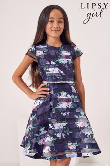 Lipsy Cap Sleeve Belted Dress