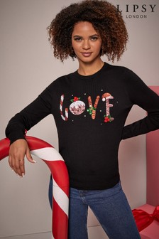 Lipsy Crew Neck Knitted Christmas Jumper