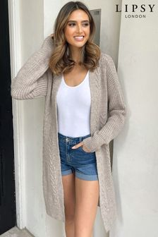 Lipsy Knitted Cable Longline Cardigan