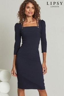 Přiléhavé šaty Lipsy s hranatým výstřihem