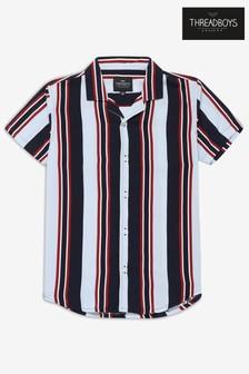 Рубашка в полоску с коротким рукавом Threadboys Kolten