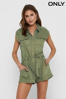 Only Utility Tencel Playsuit (P45966)   $62