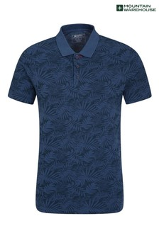 Mountain Warehouse Hyde Mens Organic Printed Slim Fit Polo