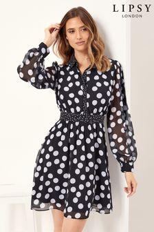 שמלת חולצה של Lipsy עם קשירה במותן