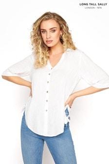 חולצה שלLongTallSally עם סיומת מעוגלת