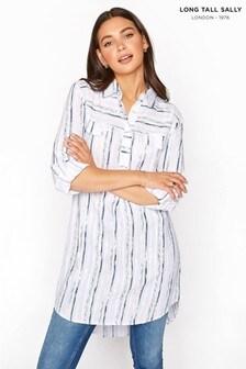 חולצה של Long Tall Sally עם פסים וסיומת אחורית ארוכה