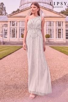 Lipsy Embellished One Shoulder Bridesmaid Dress
