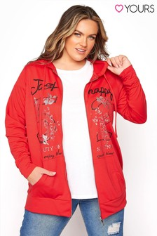 Yours Embroidered Front Hoodie