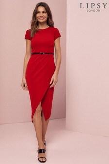 Lipsy Belted Bodycon Dress
