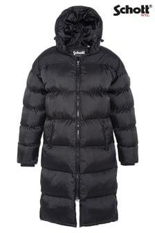 Schott Extra Long Hooded Padded Jacket