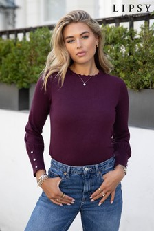 Lipsy Scallop Long Sleeve Knitted Jumper