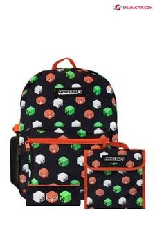 4-dielna súprava s ruksakom s postavičkami z Minecraft