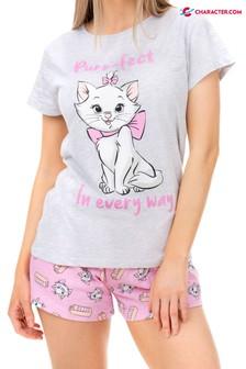 Pyjamas courts à motifs personnages Disney Aristocat Marie Cat pour femmes