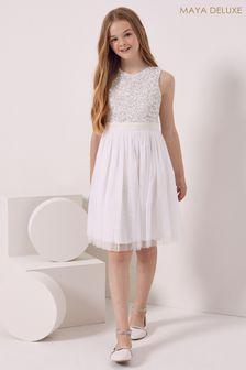 فستان تول بترتر بدون كم للبنات من Maya