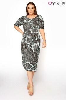 Dámske šaty s kašmírovým vzorom Yours