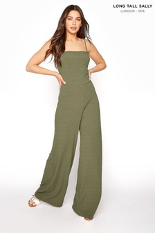 Long Tall Sally Ribbed Wide Leg Jumpsuit (P53168) | $39