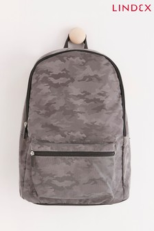 Lindex Reflective Backpack With Camo Print