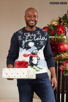 Fashion Union Mens Christmas Jumper (P54743) | $39