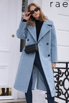 Rae Boucle Relaxed Double Breasted Coat