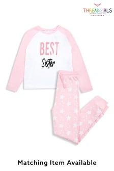 Threadgirls Best Sister Long Sleeve Cotton Pyjama Set