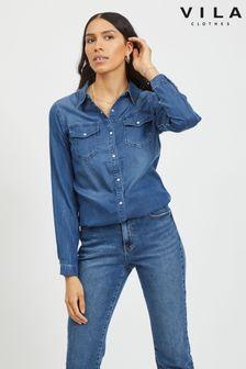 חולצת טנסל ג׳ינס של Vila