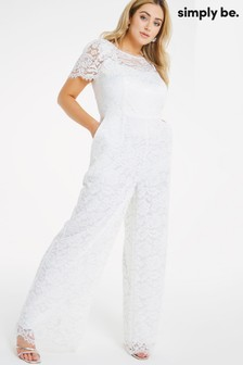 Simply Be Joanna Hope Bridal Lace Jumpsuit (P58673) | $132