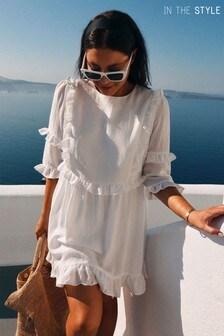 In The Style Lorna Luxe Girls Ruffle Mini Dress