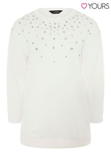 Yours Overarm Studded Sweat