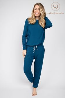 Cyberjammies Teal Knit Pant and Slouch Top