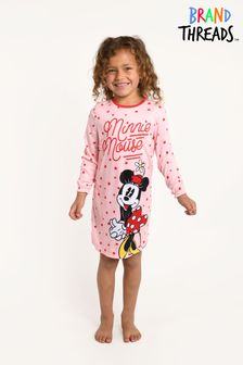 Brand Threads Girls Recycled Polyester Disney Minnie Mouse Nightie