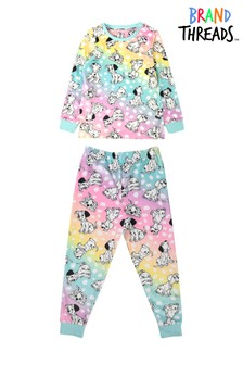 Brand Threads Girls Disney 101 Dalmatians Fleece Pyjamas