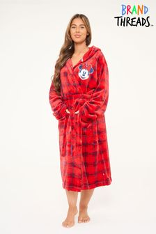 Brand Threads Disney Minnie Mouse Red Robe with Hood