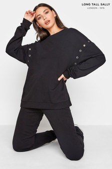 Long Tall Sally Eyelet Detail Sweatshirt