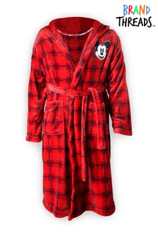 Brand Threads Disney Mickey Mouse Red Robe with Hood