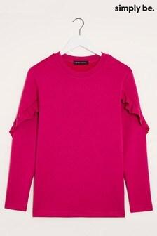 Simply Be Frill Sleeve Sweatshirt
