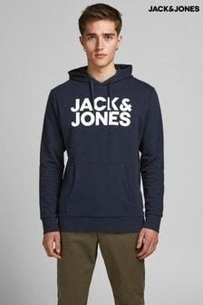 سترة بقلنسوة بشعار منJack & Jones