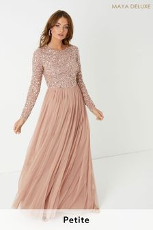 Maya Petite Sequin Maxi Dress