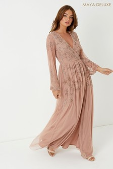 Maya Wrap Maxi Dress
