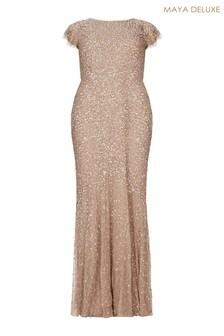 Maya Curve All Over Sequin Maxi Dress