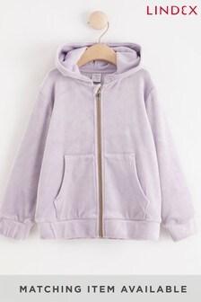 Lindex Girls Velour Hooded Jacket