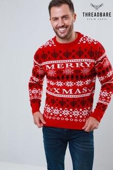 Threadbare Weihnachtspullover