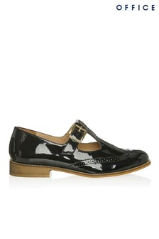 Office Patent Buckle Flats