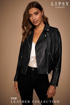 Lipsy Premium Leather Biker Jacket