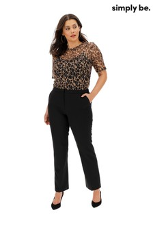 Simply Be PVL Straight Leg Regular Trousers