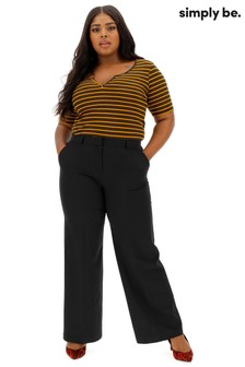 Simply Be PVL Wide Leg Trousers
