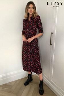 שמלת חולצה באורך מידי של Lipsy