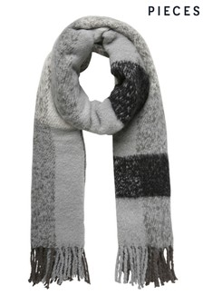 Pieces Check Boucle Scarf