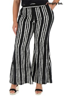 Simply Be Crepe Statement Wide Print Trousers