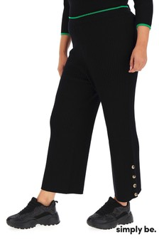 Simply Be Ribbed Knitted Trousers