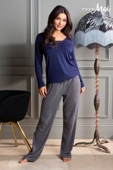 Pour Moi Lazy Days Cosy Rib Trousers